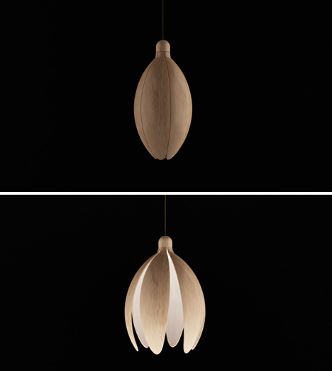Bloom: Lamp Opens Like a Flower to Adjust Brightness