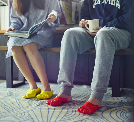 Fondue Slippers Mold into a Perfect Replica of Your Feet