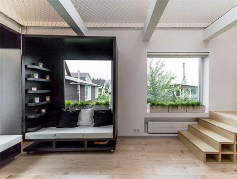 Rolling Modular Room Design Transforms Interior Spaces