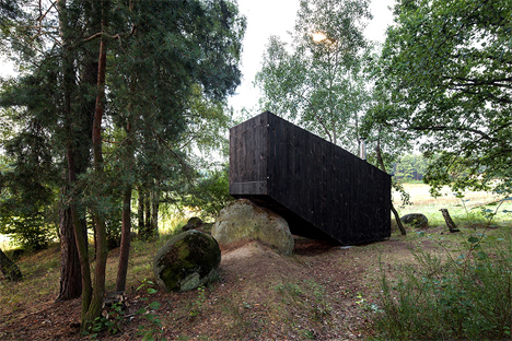 closed up forest retreat