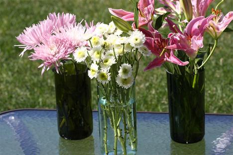 cut bottle vases