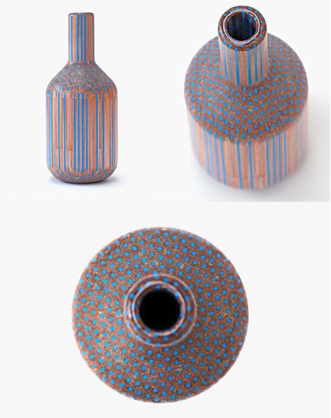 elegant vases using pencils as raw material