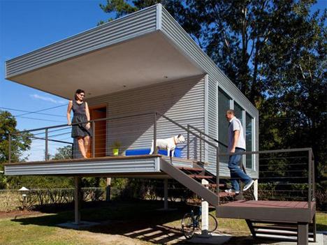 elevated backyard office