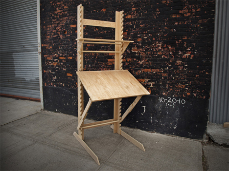 Transforming Desk Is Four Pieces Of Furniture In One