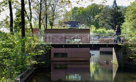 green roof houseboat netherlands
