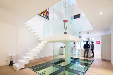 ground level with glass floor