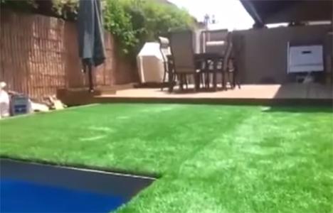 hidden pool retractable lawn