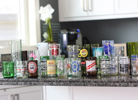 kinkajou cut bottle drinking glasses
