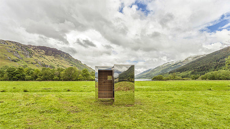 loch lomand and the trossachs national park invisible cabin