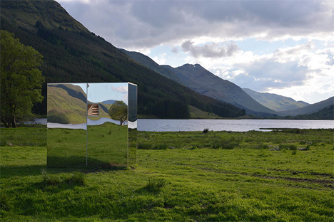 mirrored nature lookout loch lomand and the trossachs national park