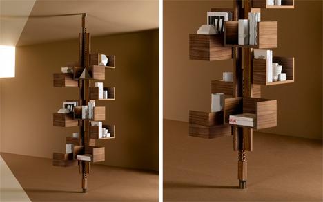 Modern Rotating Bookshelf