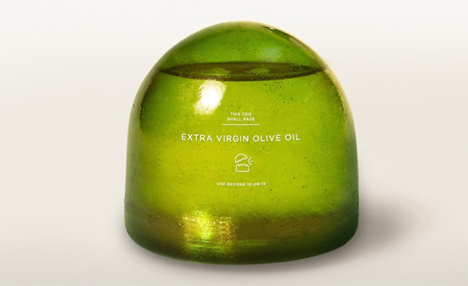 natural olive oil container