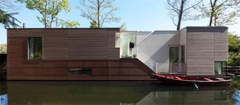 netherlands parkark houseboat