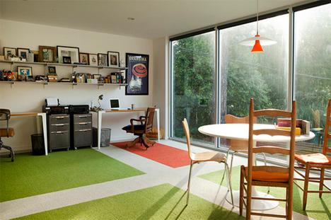 tall windows home office