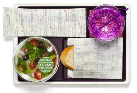 virgin atlantic meal tray redesign