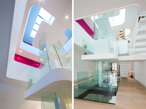 Four-Story Home With Functional Transparent-Walled Atrium