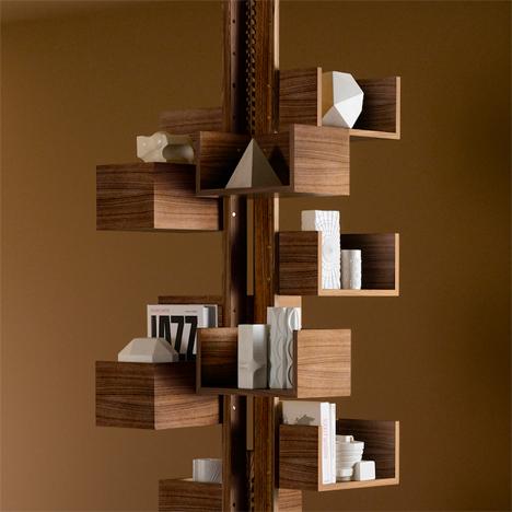 Classic Rotating Modular Bookcase Gets a Modern Update | Designs