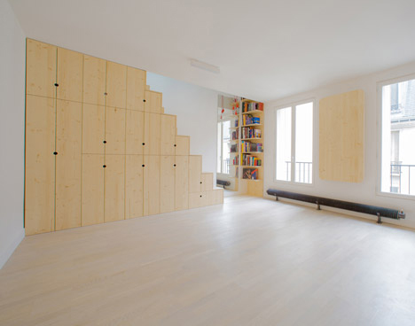 Tiny Paris Apartment Packed With Space Saving Features Designs