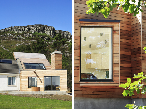 In the stunning fanad peninsula in ireland this traditional home was - Picturesque Irish Home Gets A Natural Modern Extension