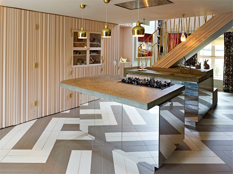 fun detailed london row house remodel