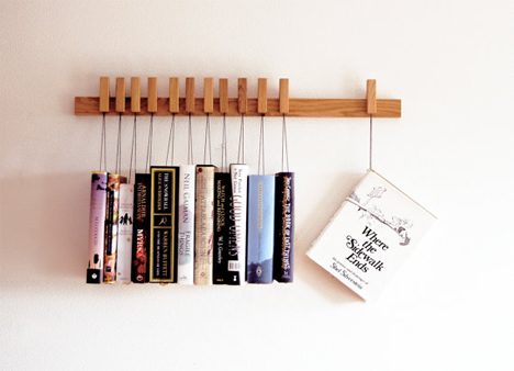 hanging book rack 1