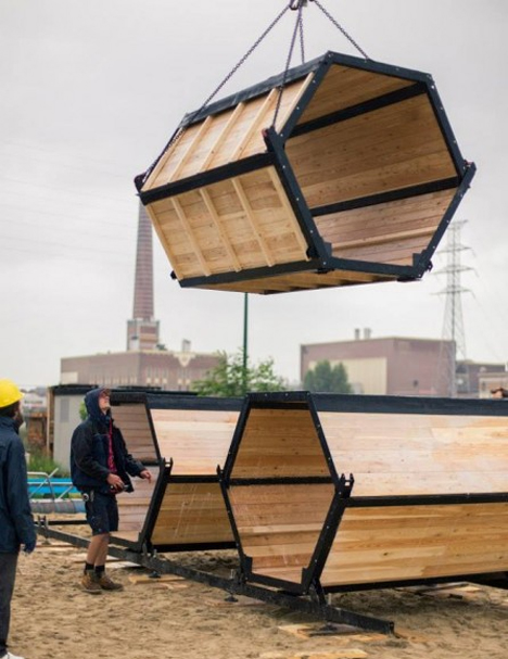 modular b-and-bee sleeping pods
