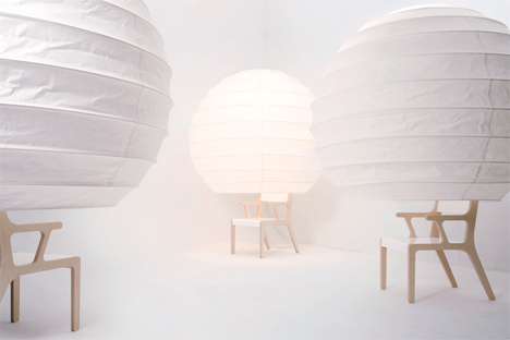 object o chair covered with lampshade