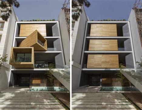 rotating rooms sharifi-ha house
