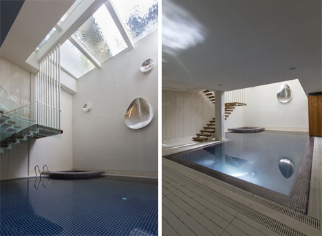 swimming pool lower level sharifi-ha house