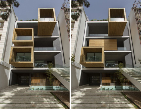 tehran home with rotating rooms