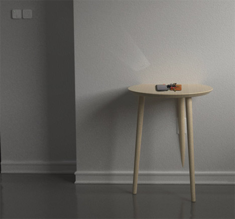 Gadget Charging Side Table Eliminates Ugly Power Cords