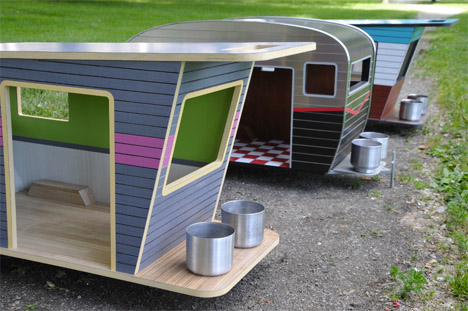 Miniature Dog Campers Retro Houses For Pets Designs