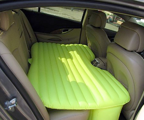 Inflatable Car Mattress Turns Your Backseat Into a Bed 72f8346f93c2