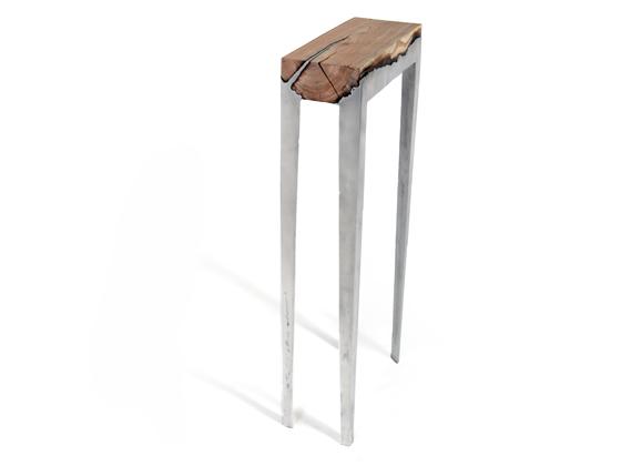 cast aluminum and wood furniture