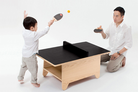 coffee table ping pong