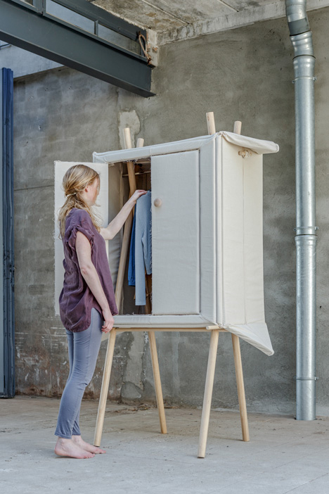 collapsible folding wardrobe