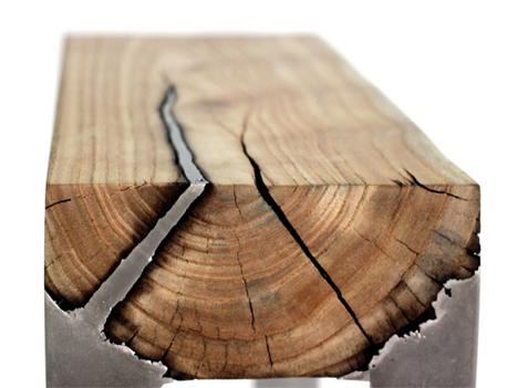 fusion wood and aluminum furniture