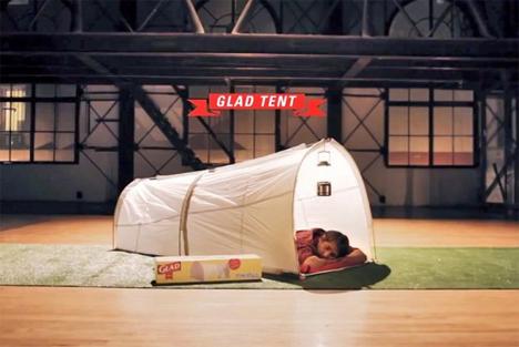 glad trash bag tent