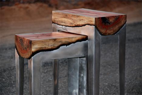 hilla shamia aluminum and wood furniture