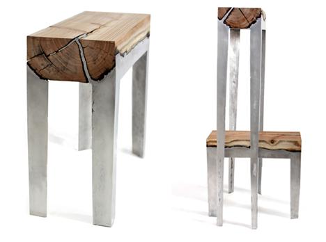 hilla shamia wood and aluminum furniture