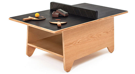 Ping Pong Coffee Table Combines Fun