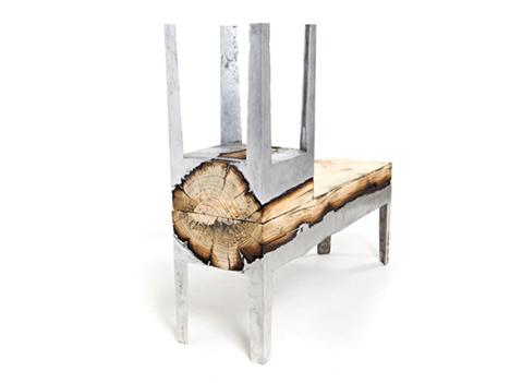 wood and cast aluminum furniture