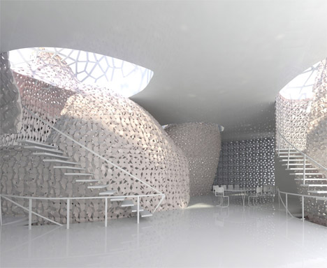 Salt House Sustainable Semi Transparent 3d Printed Structure