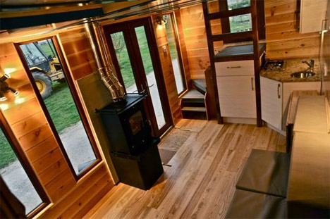 Relaxation to Go: Tiny House on Wheels Has a Built-In Hot Tub - mini houses on wheels