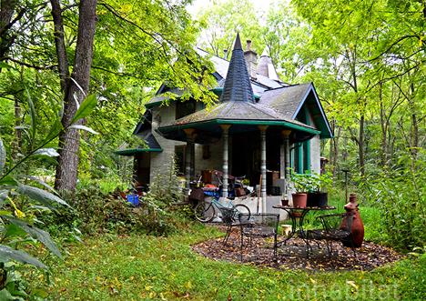 exterior fairytale home