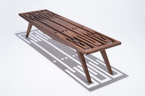 fierst design walnut eastside bench
