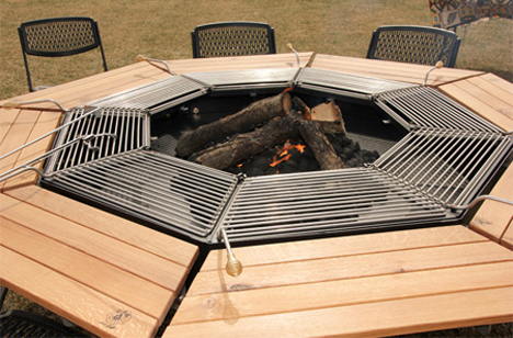 Bbq Picnic Table Lets Everyone Cook Designs Ideas On Dornob