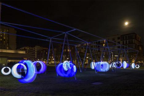 glowing swings installation boston