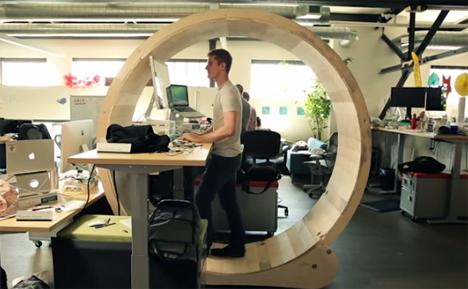 hamster wheel desk