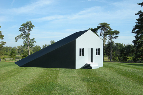 house with physical shadow extension
